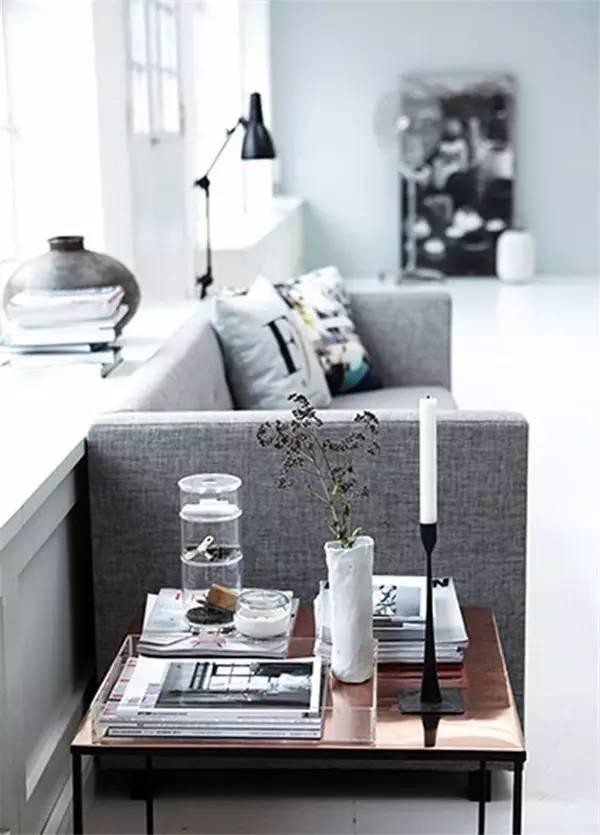 【设计分享】沙发边除了茶几,还能放什么!