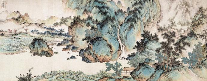 钓鱼台国宾馆珍藏的十幅国画 - 兰绿相间  - 兰绿相间