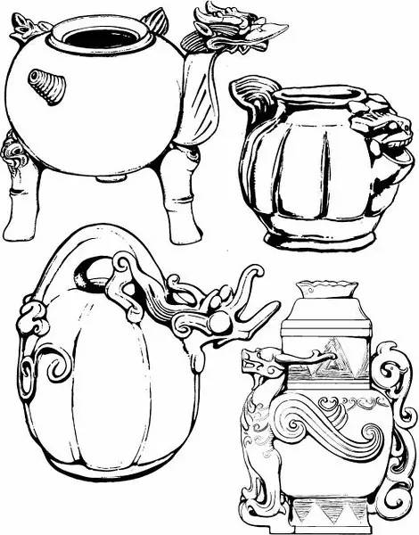 青铜器纹饰一弊 常用于青铜器的纹样有:饕餮纹
