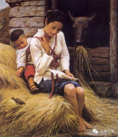【文摘欣赏】乡愁(油画系列) - 南飞雁 - 南飞雁,雁南飞,雁叫声声盼春归。