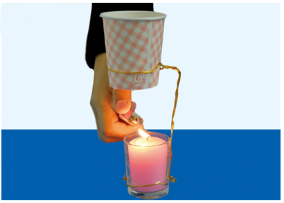 小实验实验步骤: 1第一步:用铁丝绑住纸杯的下半部.