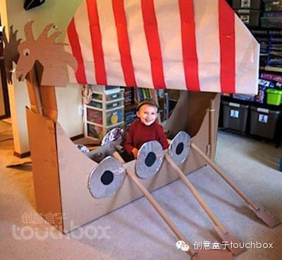 [转载]幼儿园教玩具制作(六)——大纸箱的创意玩法