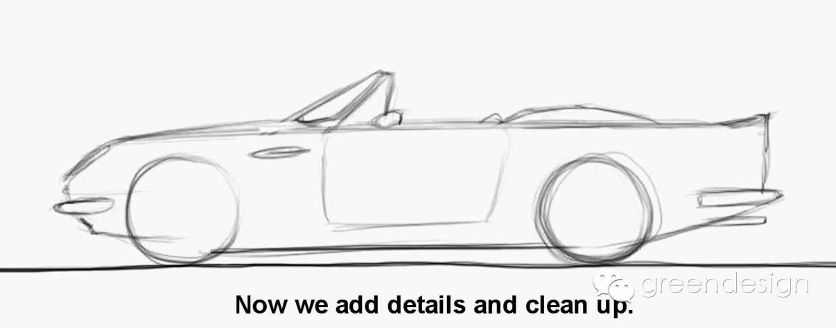 sketch | 比例 手绘图,英伦风跑车aston martin的画法