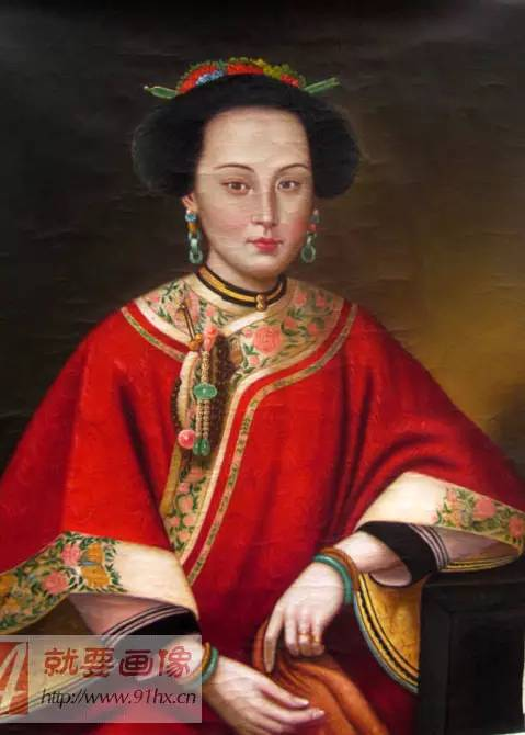 香妃油画中国女人油画