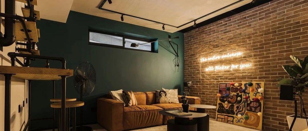 单身潮妈160㎡的轻工业复古社交空间,把酒吧咖啡馆搬进家!
