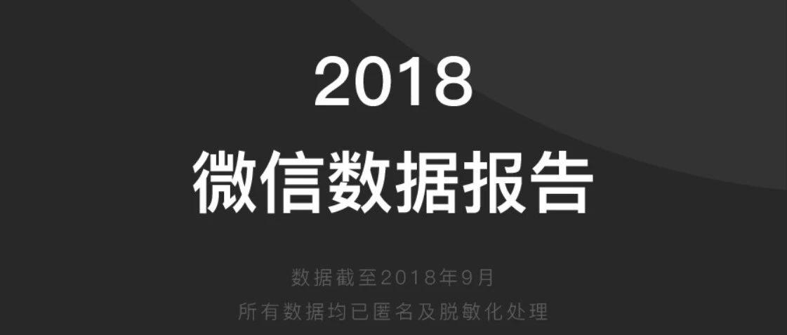 2018微信数据报告,来了!
