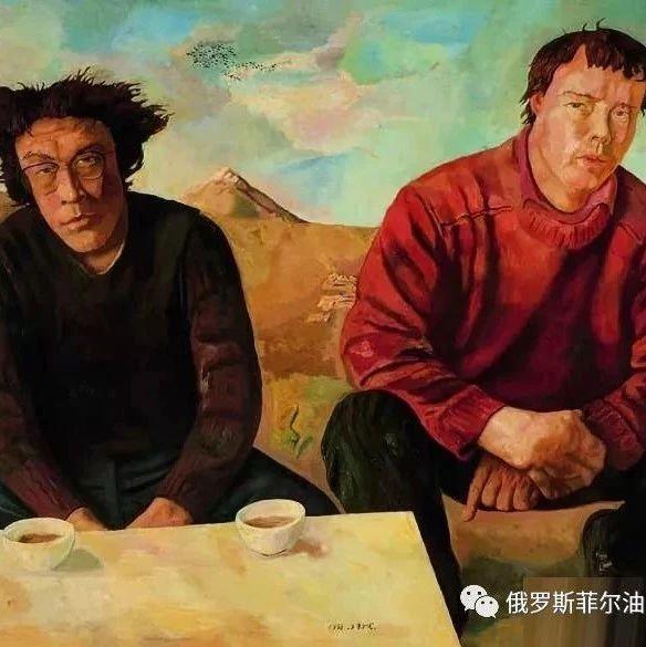 中国现代油画家朝戈人物油画作品欣赏