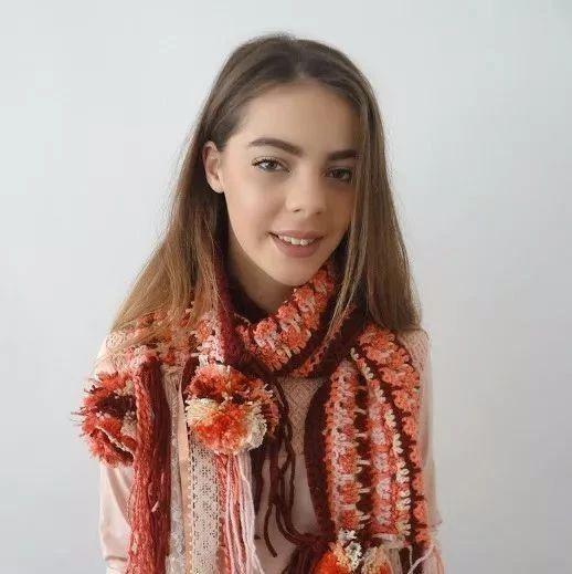 教你用各式毛线混搭,编织漂亮的西米亚风围巾!