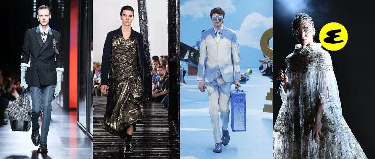 巴黎男装周,15个品牌的神仙造型让我恨自己是个女的!