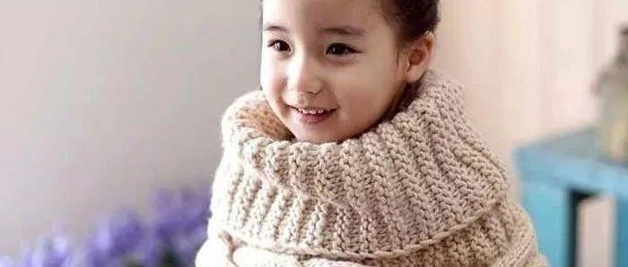 教你织经典韩版儿童棒针麻花围脖,附详细编织教程!