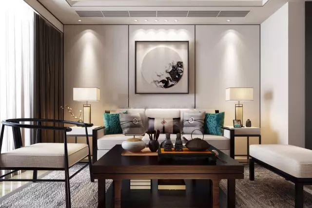 新中式客厅沙发墙,简直美醉了!