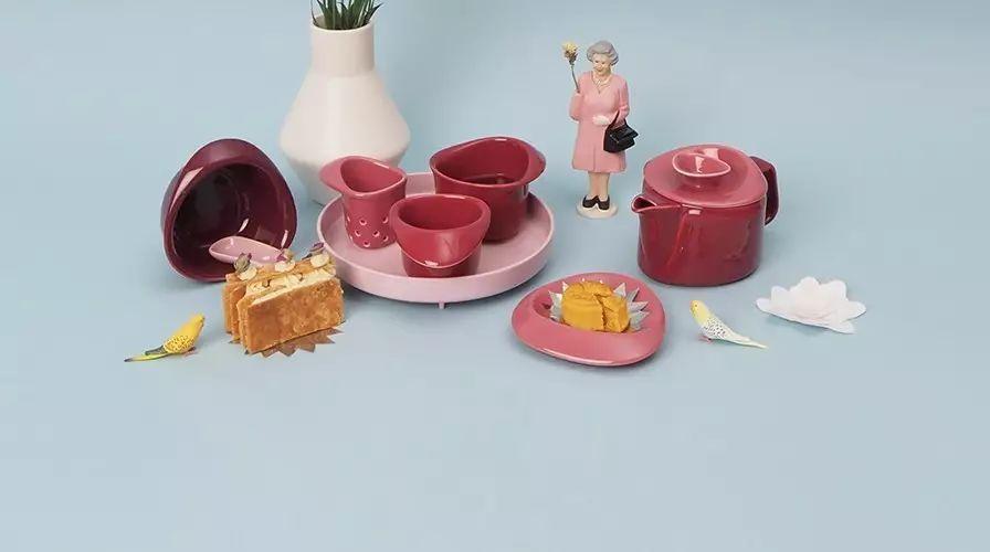 65折 买得起的丹麦设计,7件套茶具叠起来竟然是朵玫瑰