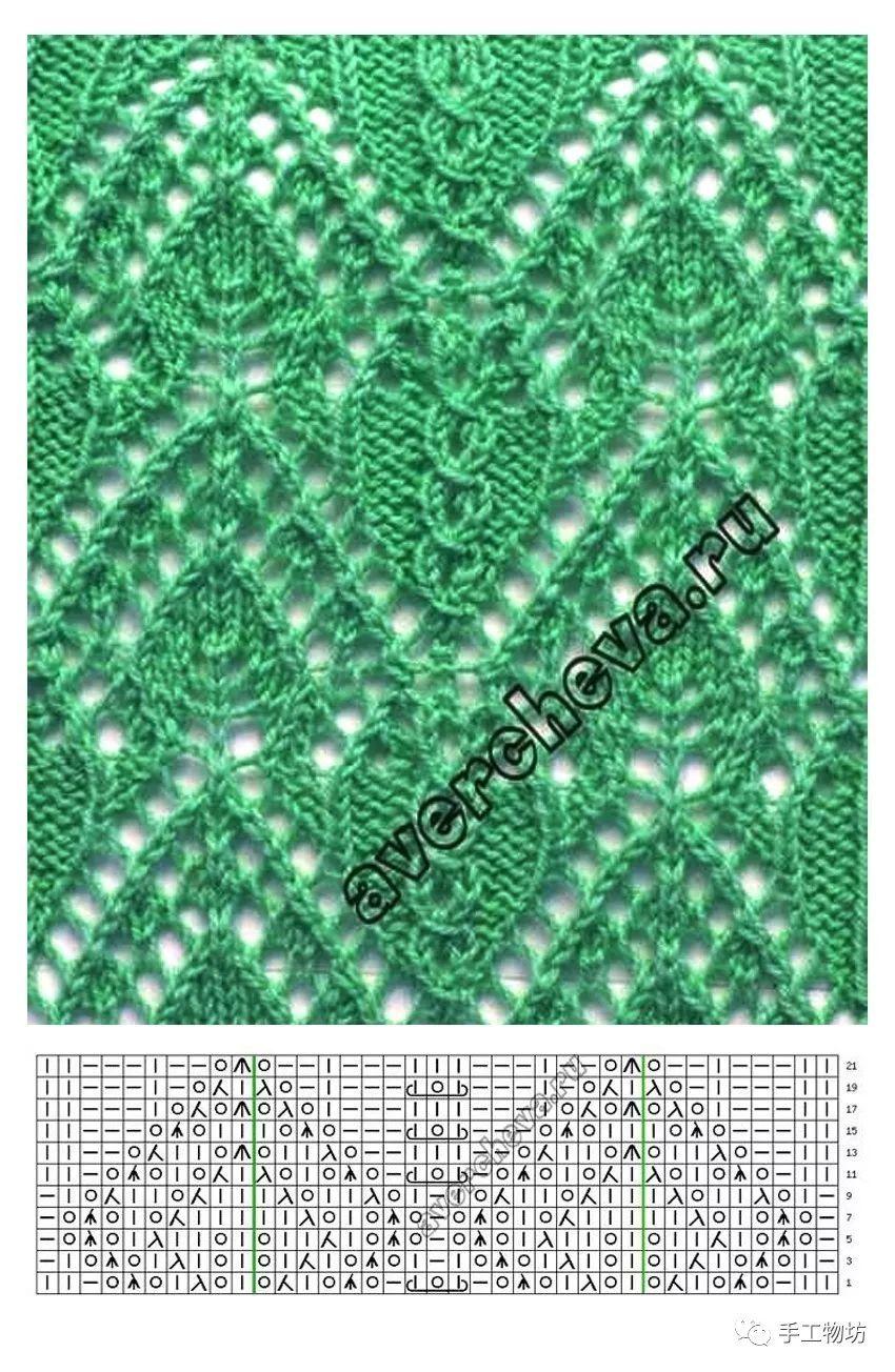 【图解】棒针编织镂空花样大全,织出独一无二的毛衣就