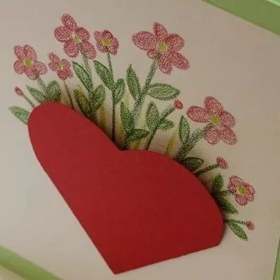 卡纸花篮手工制作图片