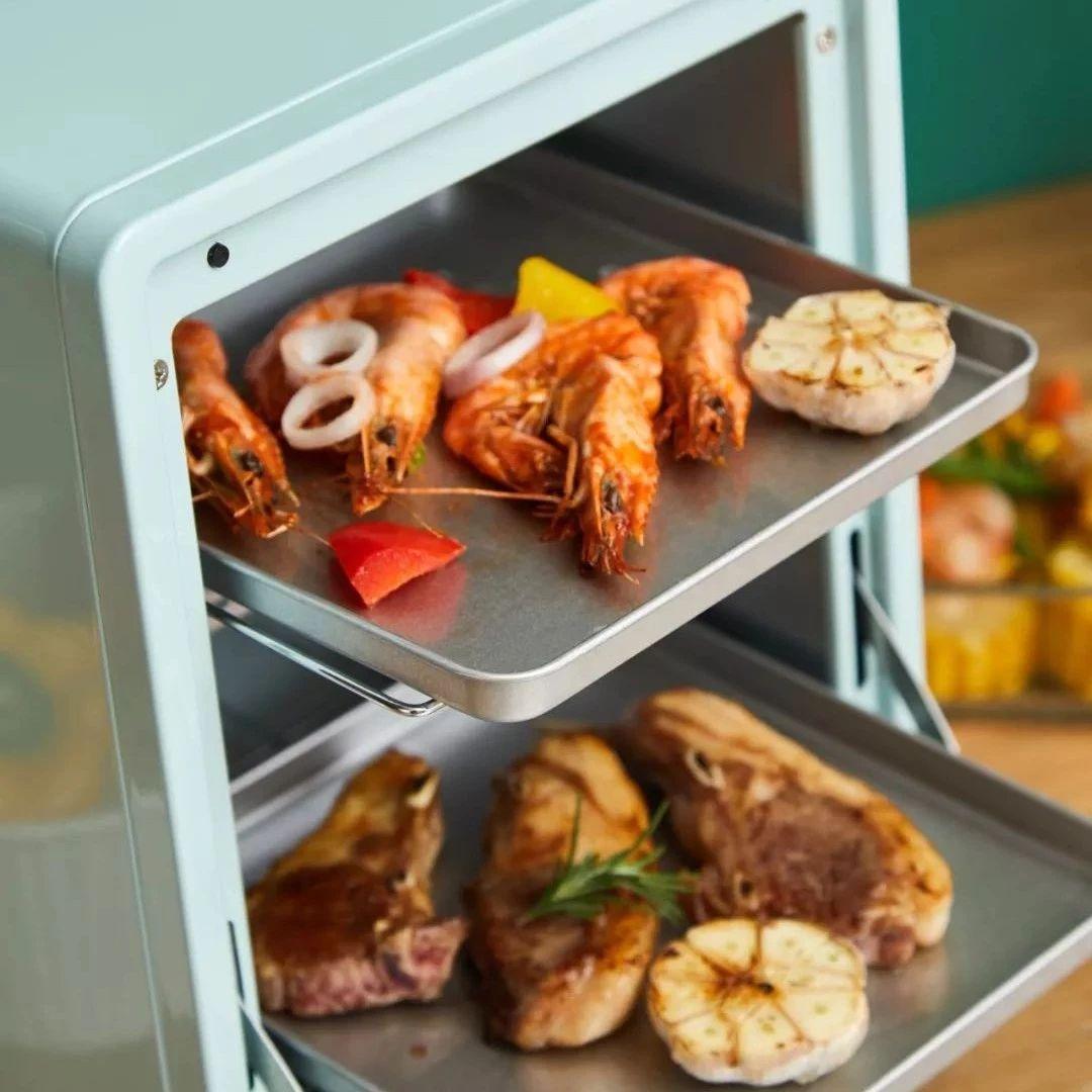 颜值超高的多功能电烤箱,精致小巧、复古别致