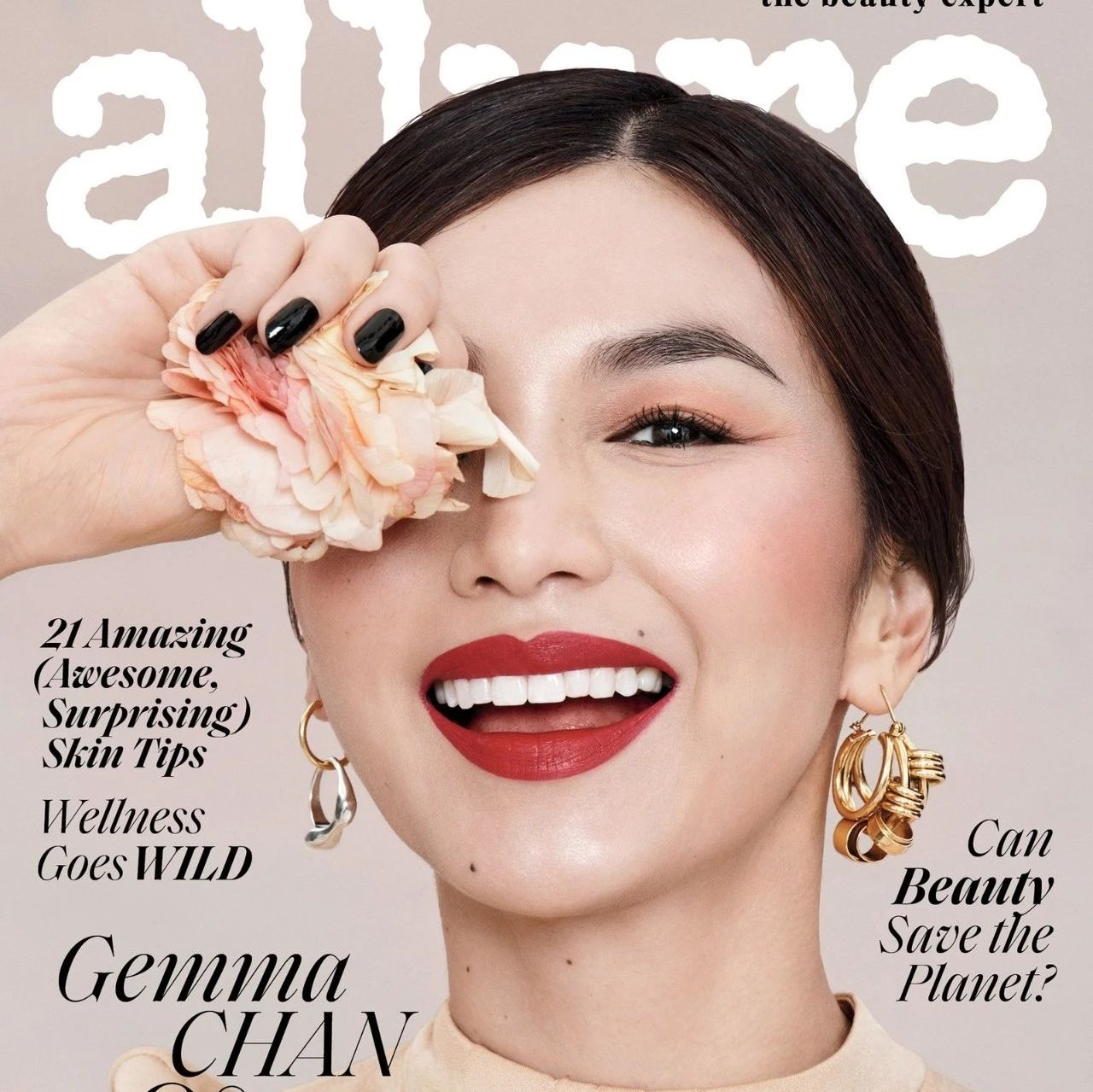 """嘉玛·陈登上时尚杂志""""Allure""""封面,这组写真也是美爆了!"""