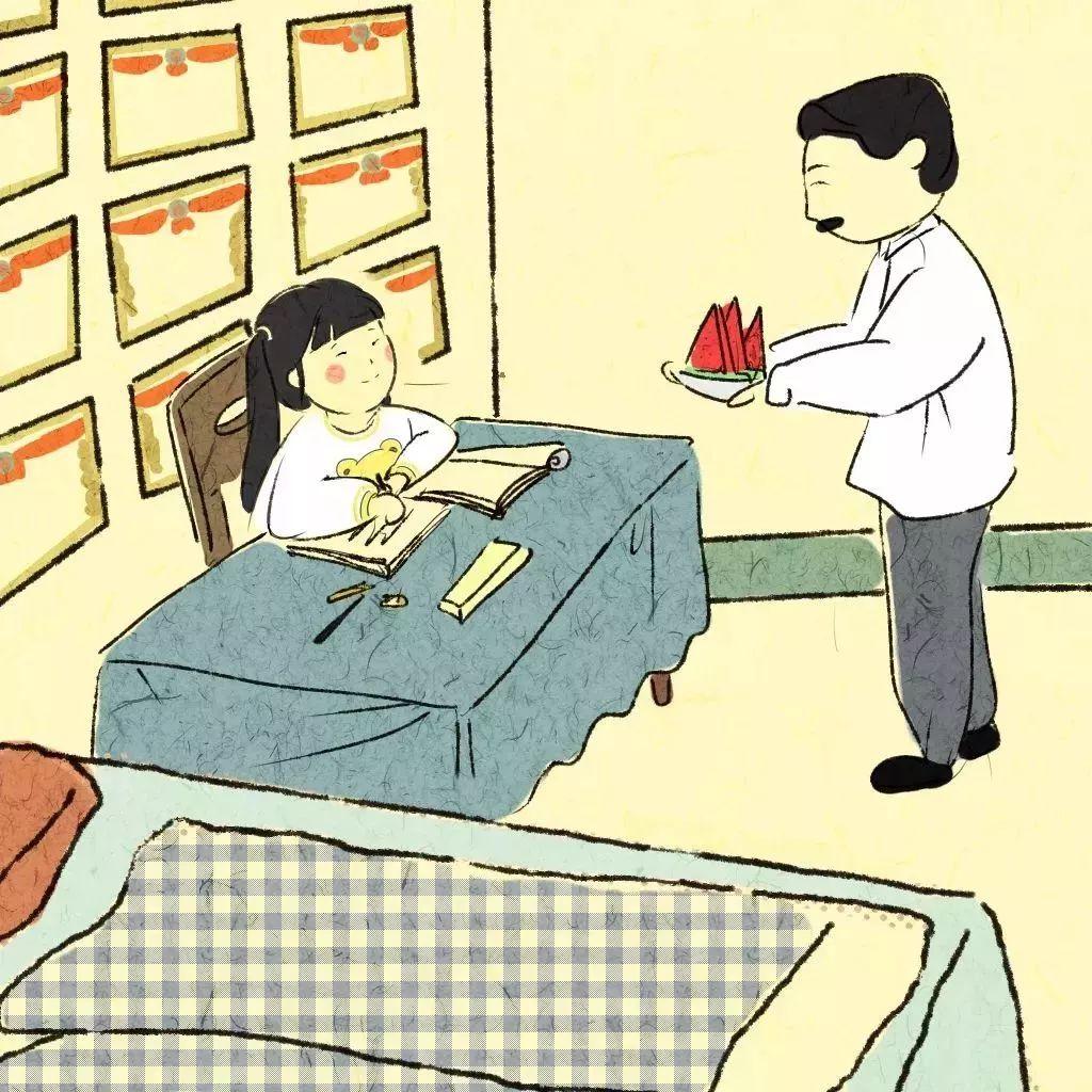 小姑娘看着妈妈哭着离开的背影, 后来小姑娘主动要求爷爷把她送回新