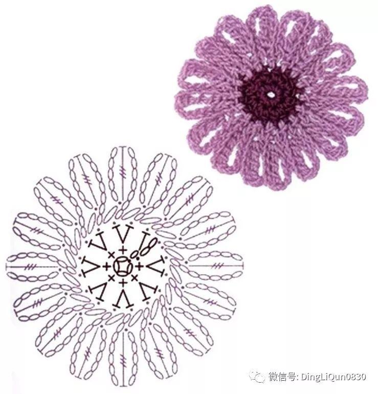 这些花朵多层钩花 钩针多层花 爱尔兰立体小花