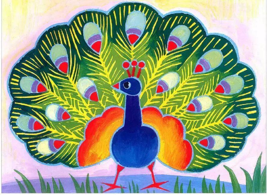 第7课彩色大公鸡 ◇儿童创意油画棒:神气的小花猫 ◇美术教室 水粉画