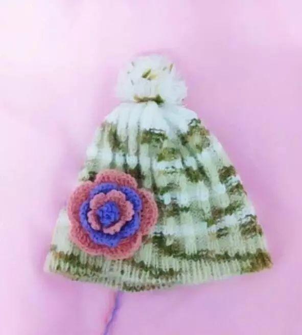 钩针编织帽子配件花朵 毛线简单花朵钩法图解!