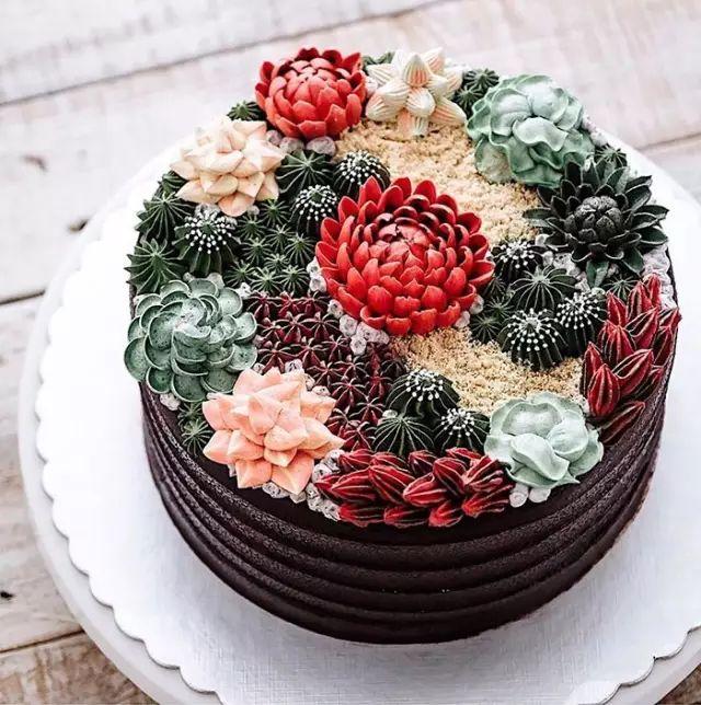【艺术欣赏】多肉蛋糕——你一定没见过的美食艺术! - 梦儿 - 强健体魄 善待自我 好好活着