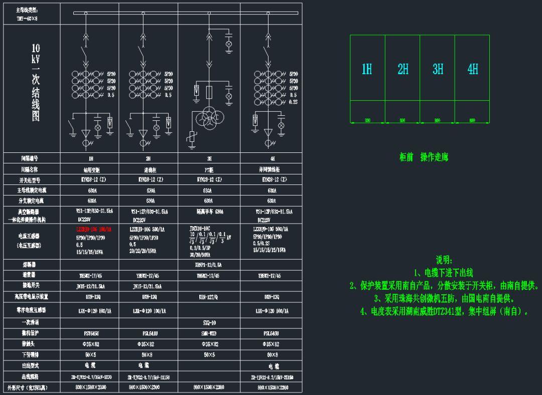 【光伏电站图纸】某5mw光伏电站d0101电气主接线图及