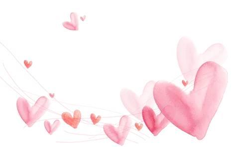 标题情人节七夕节心型粉色模块样式