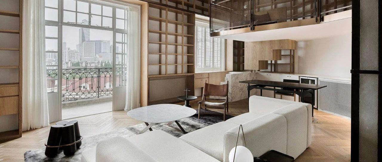 上海法租界的百年老宅变身现代化的图书馆式公寓