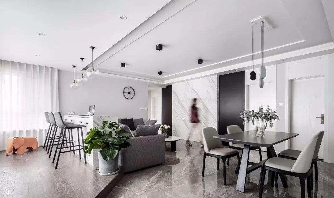 117平现代北欧三室 书房功能塞进客厅