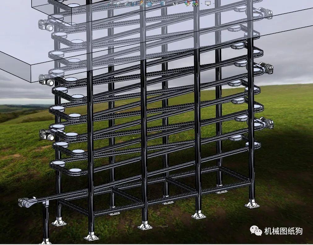 【非标数模】柔性螺旋机3D数模图纸Solidworks设计