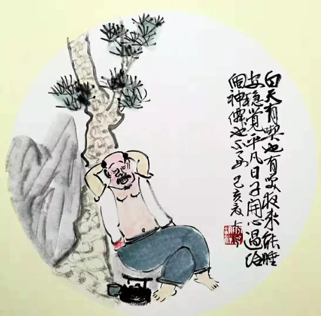 大曾画画:白天有吃也有笑,晚上能睡安稳觉,平凡日子开心过,给个神仙也不要