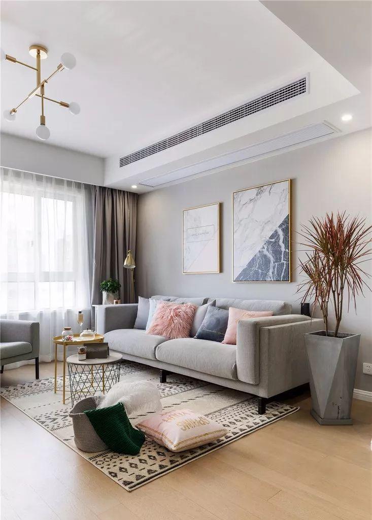 103平现代简约公寓,巧用视觉延伸效果,空间大不少