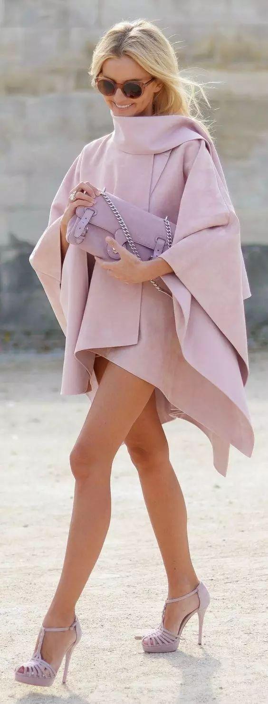 冬季保暖瘦身兩不誤,鬥篷一件全搞定