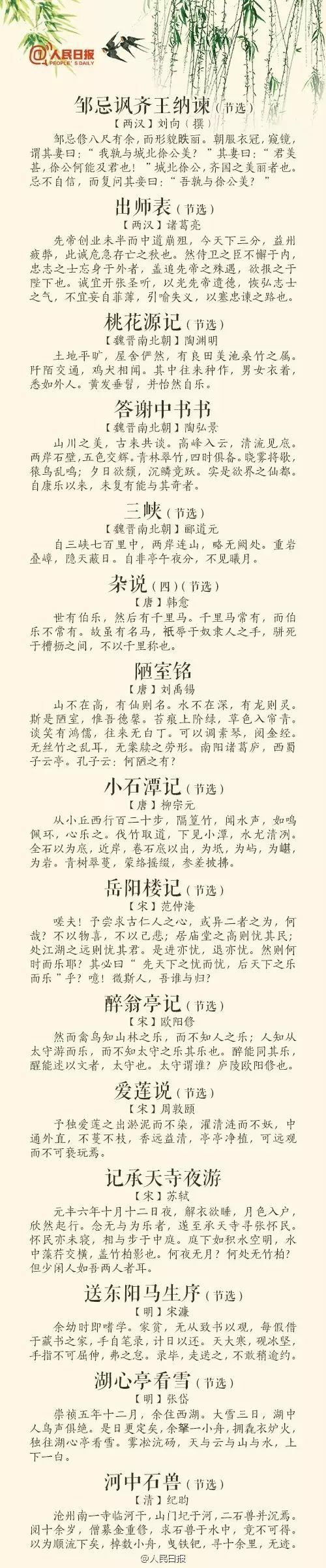 【薦讀】義務教育階段136首必背詩文,你還會幾首?