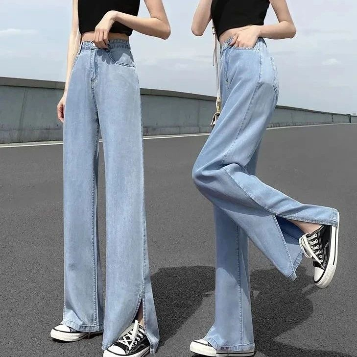 牛仔阔腿裤:一穿就上瘾,完全不闷热,清爽飒人!