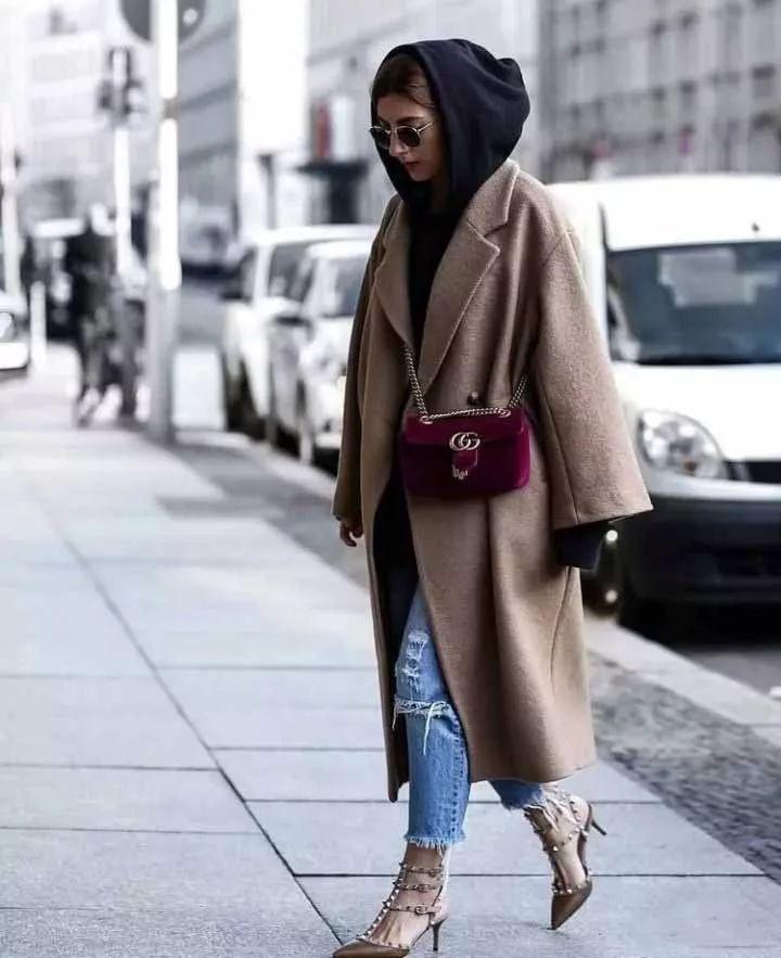 時尚|2017冬天穿衛衣+大衣,好看爆了!!!