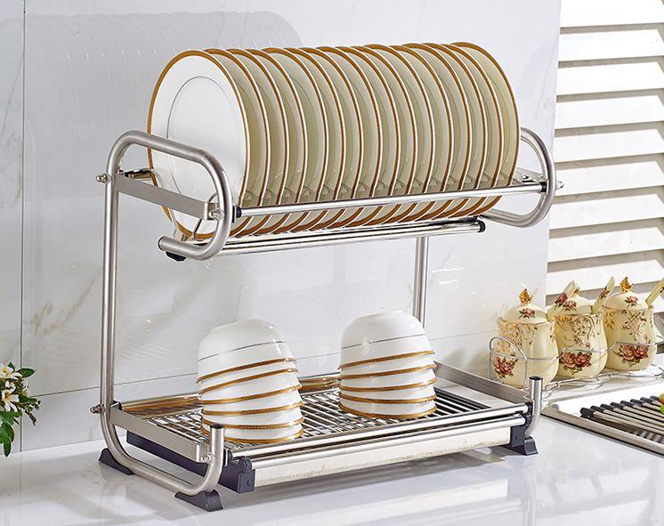 把小厨房改装成大空间!-不锈钢碗架,刀架+收纳架,200+承重力的置物蔬果菜小推车,调味盒