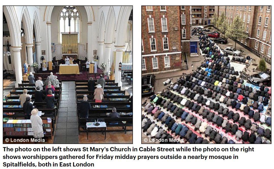 伦敦陷落500个教堂关,423清真寺开,