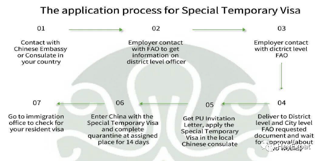 Typical Application Process for Visa (PU Letter)