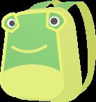标题儿童节卡通背包书包模块样式