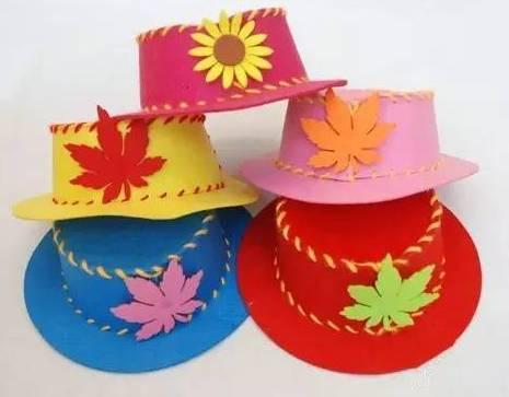 幼兒園手工帽子聖誕派對 各種漂亮的小帽子等你來製作呦!