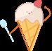 图文混排单图夏天蓝色冰淇淋一图模块样式