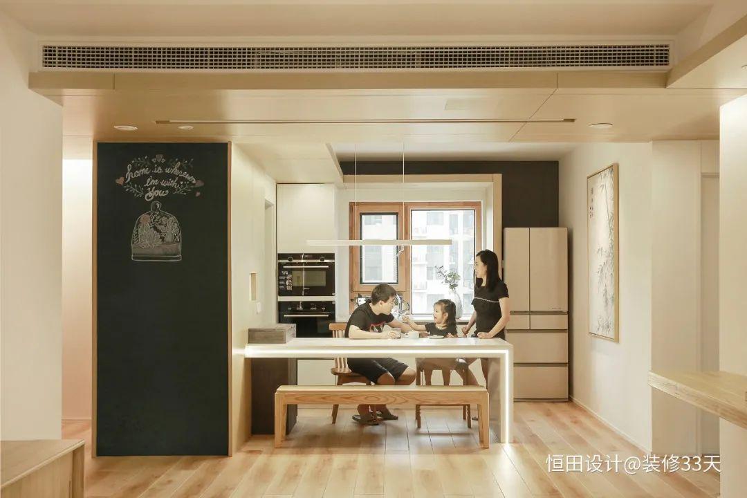 112平两孩六口之家,教科书般的收纳设计